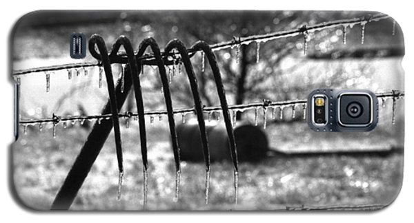 Galaxy S5 Case featuring the photograph Ice Storm On The Farm by Wanda Brandon