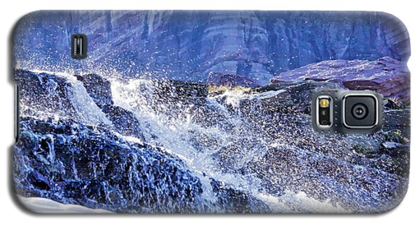 Galaxy S5 Case featuring the photograph Icy Cascade by Albert Seger
