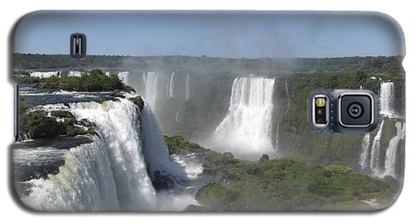 Galaxy S5 Case featuring the photograph Iguazu Falls by David Gleeson