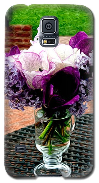 Galaxy S5 Case featuring the photograph Impressionist Floral Bouquet by Karen Lee Ensley