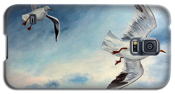 Galaxy S5 Case featuring the painting In Flight by Julie Brugh Riffey