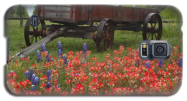 Indian Paintbrush And Wagon Galaxy S5 Case