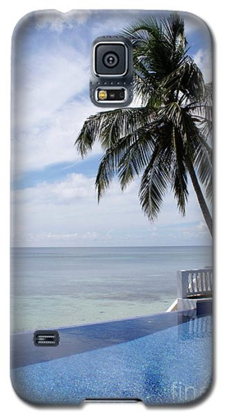 Galaxy S5 Case featuring the photograph Infinity Pool Big Corn Island Nicaragua by John  Mitchell