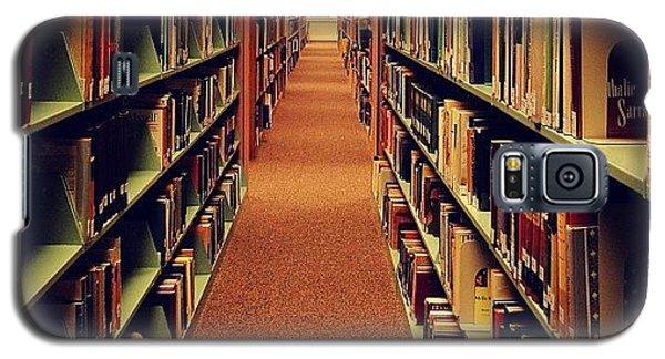 School Galaxy S5 Case - #instagrammers #hallway #books #library by Sabrina Gamig
