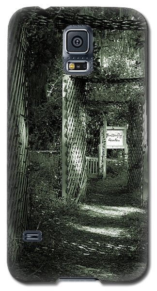 Galaxy S5 Case featuring the photograph Into The Butterfly Garden Green by DigiArt Diaries by Vicky B Fuller