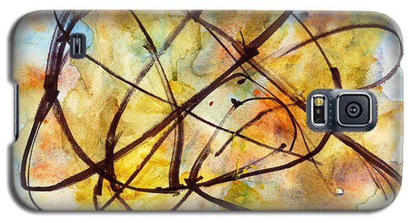 Galaxy S5 Case featuring the painting Inverno Abstract Watercolor by Chriss Pagani