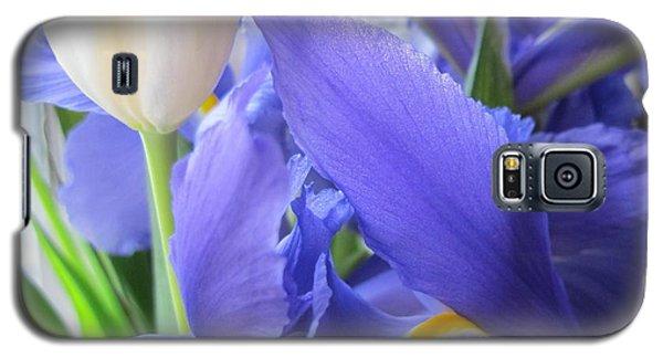 Galaxy S5 Case featuring the photograph Iris Petal by Arlene Carmel