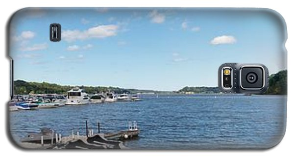 Galaxy S5 Case featuring the photograph Irondequoit Bay Panorama by William Norton
