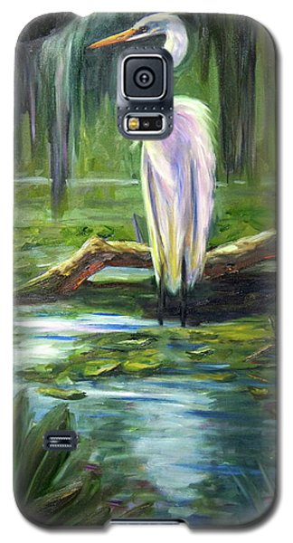 Galaxy S5 Case featuring the painting Island Monarch by Marlyn Boyd