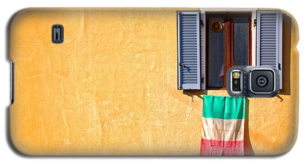 Italian Flag Window And Yellow Wall Galaxy S5 Case