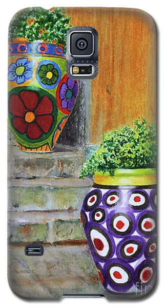 Galaxy S5 Case featuring the painting Italian Vases by Karen Fleschler