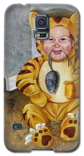 Galaxy S5 Case featuring the painting James-a-cat by Lori Brackett