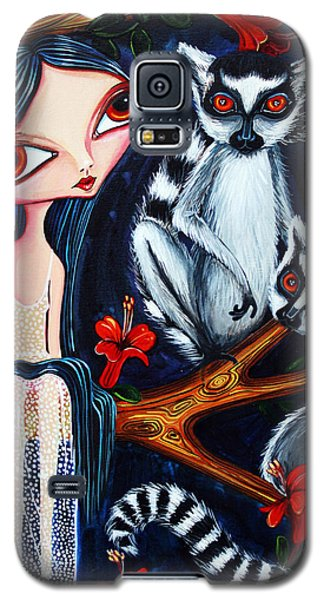 Jane And The Lemurs Galaxy S5 Case by Leanne Wilkes