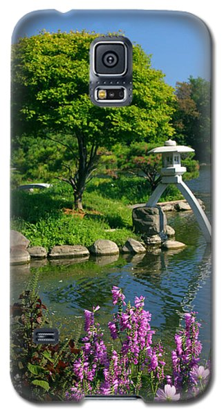 Galaxy S5 Case featuring the photograph Japanese Garden by Cindy Haggerty