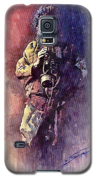 Portret Galaxy S5 Case - Jazz Miles Davis Maditation by Yuriy Shevchuk