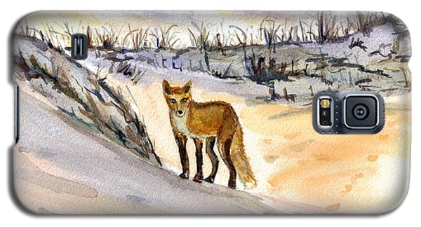Galaxy S5 Case featuring the painting Jersey Shore Fox by Clara Sue Beym