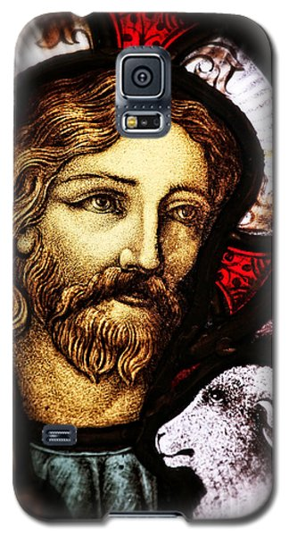 Galaxy S5 Case featuring the photograph Jesus The Good Shepard by Verena Matthew