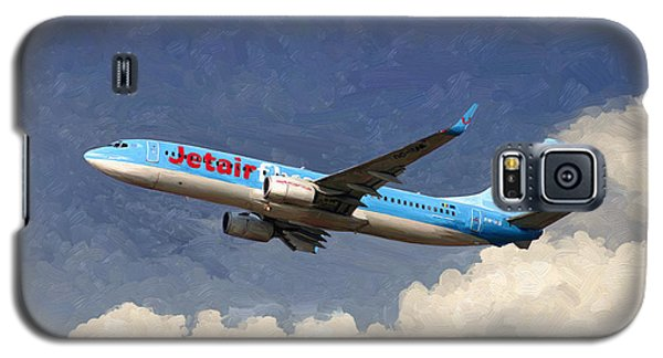 Galaxy S5 Case featuring the painting Jetairfly Boeing 737 by Nop Briex