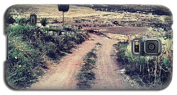 #jo #jordan #amman #nature #green #road Galaxy S5 Case