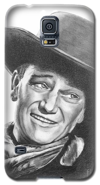 Galaxy S5 Case featuring the drawing John Wayne   Dreamer by Marianne NANA Betts