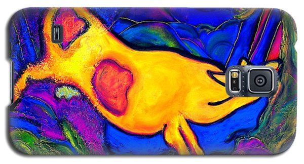 Joyful Yellow Cow Galaxy S5 Case