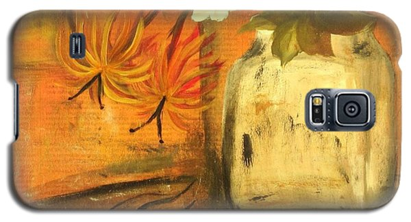 Galaxy S5 Case featuring the painting Just Enough by Kathy Sheeran