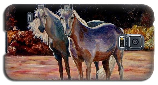 Galaxy S5 Case featuring the painting Just Who Are You by Julie Brugh Riffey