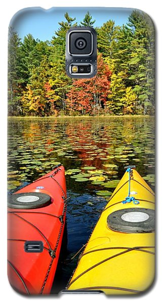 Galaxy S5 Case featuring the photograph Kayaks In The Fall by Rick Frost