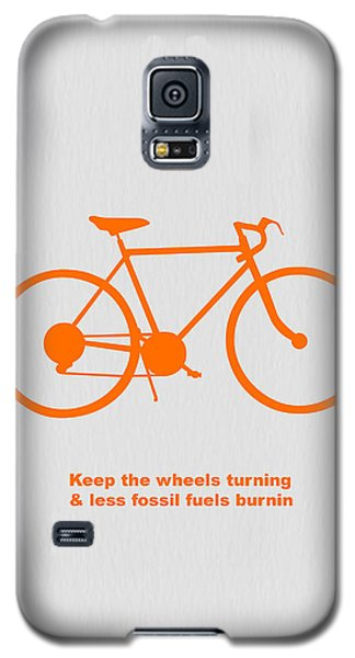 Bicycle Galaxy S5 Case - Keep The Wheels Turning by Naxart Studio