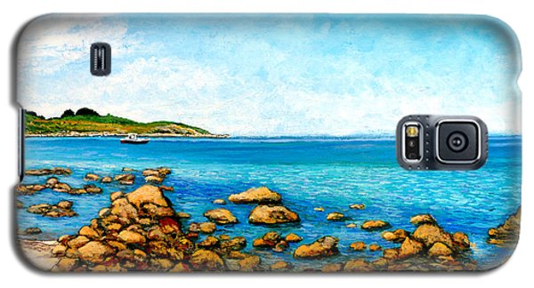 Galaxy S5 Case featuring the painting Kettle Cove by Tom Roderick