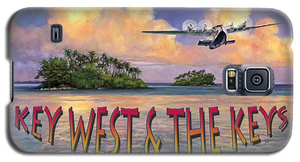 Galaxy S5 Case featuring the painting Key West Air Force by David  Van Hulst