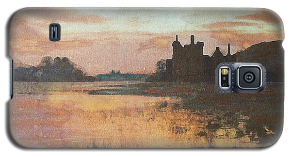 Galaxy S5 Case featuring the painting Kilchurn Castle Scotland by Richard James Digance