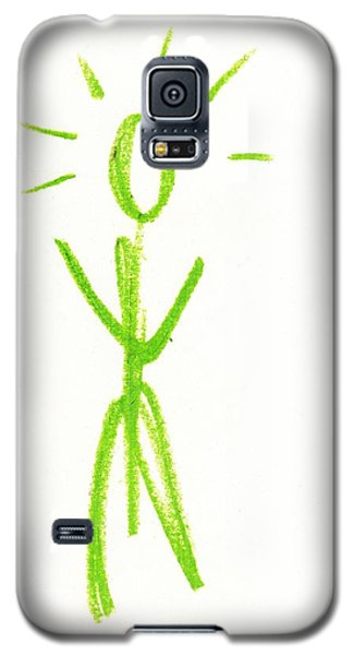 Galaxy S5 Case featuring the drawing King Of Manhattan by Patrick Morgan