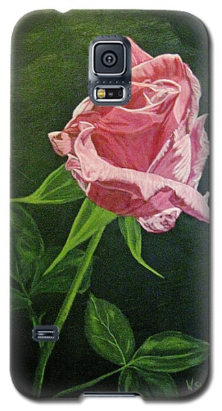 Galaxy S5 Case featuring the painting Kiss Of The Morning Sun 2 by Wendy Shoults