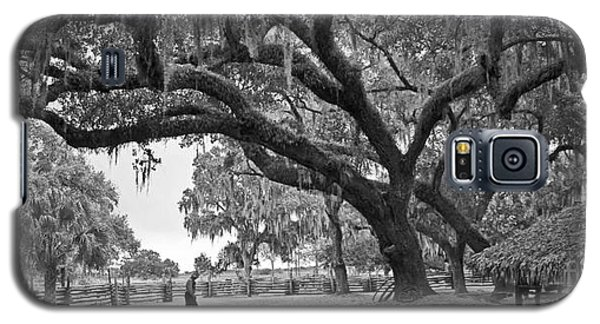 Galaxy S5 Case featuring the photograph 1860 Kissimee Cow Camp  4  Bw by Larry Nieland