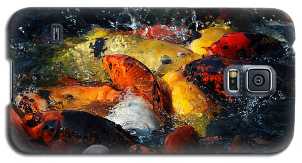 Galaxy S5 Case featuring the photograph Koi Fish by Eva Kaufman