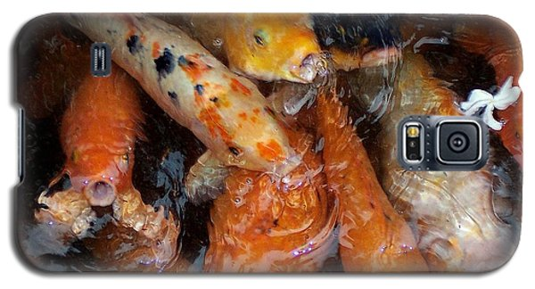 Galaxy S5 Case featuring the photograph Koi In Pond by Peter Mooyman