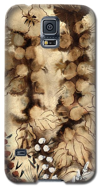 Kotsim Thorny Desert Plants In Brown Flowers Leaves Monochrome White   Galaxy S5 Case