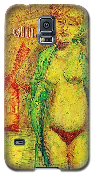 Galaxy S5 Case featuring the painting La Goulue by D Renee Wilson