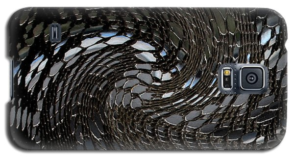 Galaxy S5 Case featuring the photograph Lacey Abstract2 by Karen Harrison