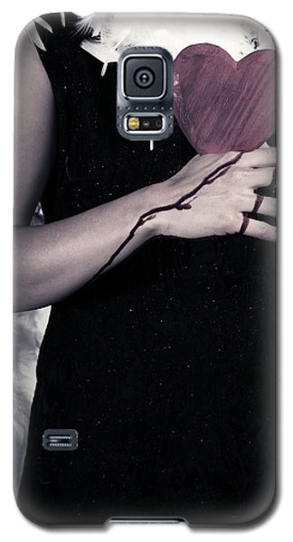 Lady With Blood And Heart Galaxy S5 Case by Joana Kruse