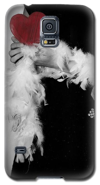 Lady With Heart Galaxy S5 Case by Joana Kruse