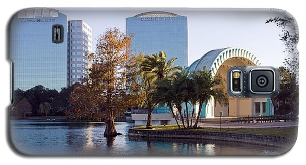 Galaxy S5 Case featuring the photograph Lake Eola's  Classical Revival Amphitheater by Lynn Palmer