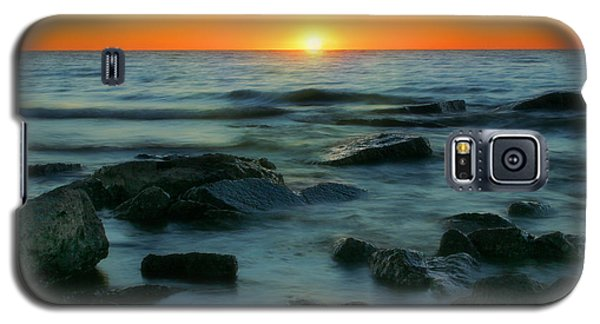 Lake Erie Sunset Galaxy S5 Case by Cindy Haggerty