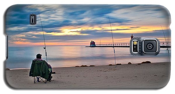 Lake Michigan Fishing Galaxy S5 Case