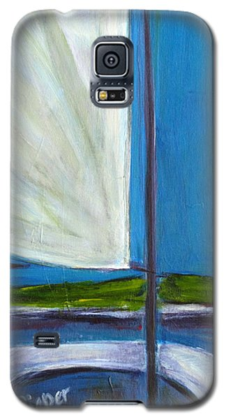 Galaxy S5 Case featuring the  Land Ho With Sail And Sea And Sky by Betty Pieper