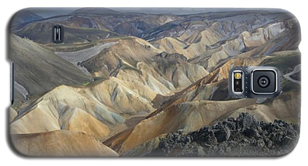 Galaxy S5 Case featuring the photograph Landmannalaugar Panorama 1 by Rudi Prott