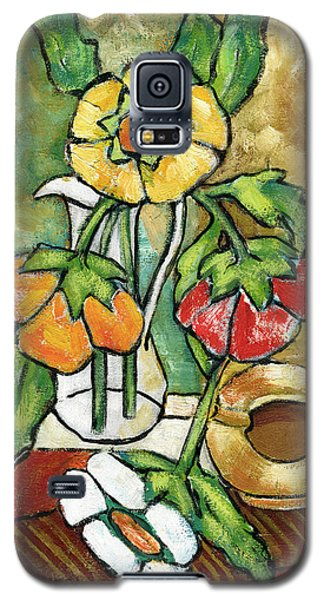 Large Flowers Galaxy S5 Case by Rachel Hershkovitz