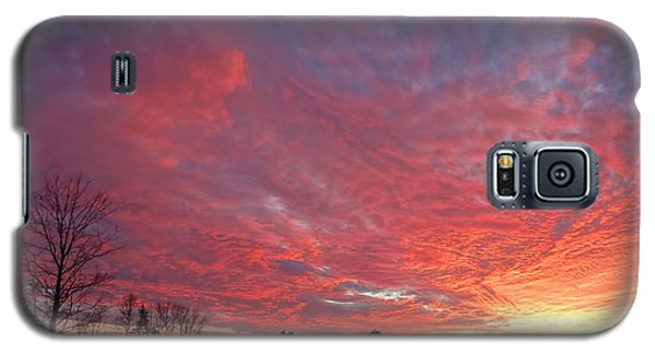 Galaxy S5 Case featuring the painting Lascassas Sunset One by Carol Berning