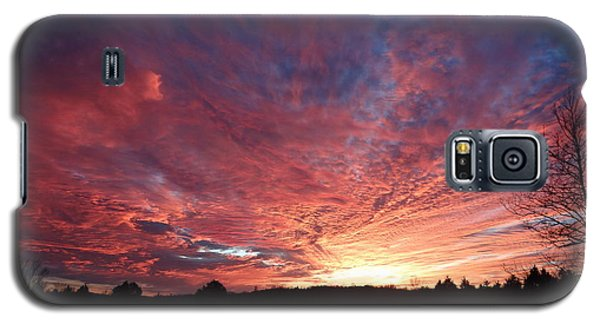 Galaxy S5 Case featuring the painting Lascassas Sunset Two by Carol Berning